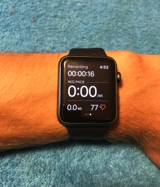 Apple Watch on Wrist Strava App